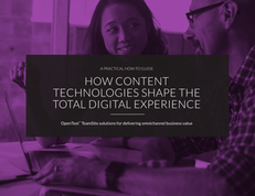 How Content Technologies Shape the Total Digital Experience