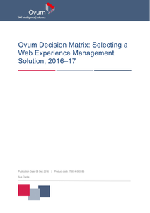 Ovum WCM Decision Matrix 2016-2017