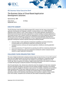 The Business Value of Cloud-Based Application Development Solutions