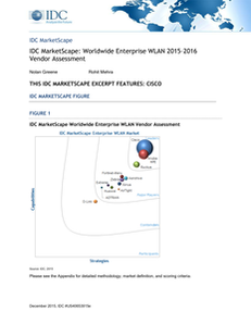 IDC MarketScape: Worldwide Enterprise WLAN 2015–2016 Vendor Assessment