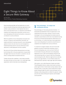 Eight Things to Know About a Secure Web Gateway
