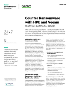 Counter Ransomware with HPE and Veeam