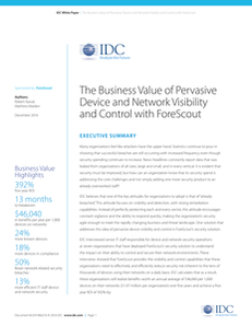 IDC Study-The Business Value of Network Visibility & Control
