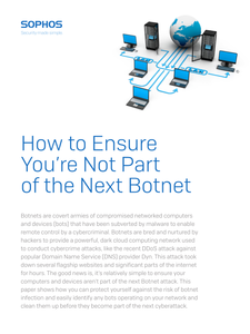 How to Ensure You're Not Part of the Next Botnet