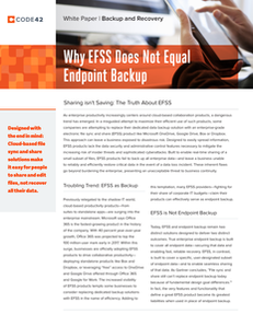 Why EFSS Does Not Equal Endpoint Backup