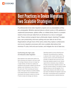 Best Practices in Device Migration: Two Scalable Strategies