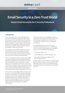 Email Security in a Zero Trust World