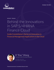 Constellation Research: Behind the Innovations in SAP S/4HANA Finance Cloud
