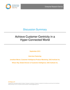 Achieve Customer Centricity in a Hyper-Connected World (IIA)