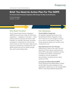 Forrester Brief: You Need An Action Plan for GDPR