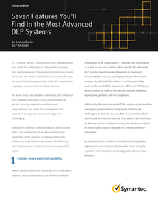 Seven Features You'll Find in the Most Advanced DLP Systems