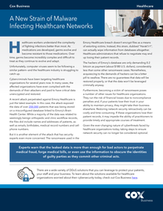 A New Strain of Malware Infecting Healthcare Networks