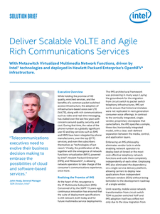 Deliver Scalable VoLTE and Agile Rich Communications Services