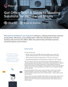 Got Office 365? A Guide to Meeting Solutions for Distributed Teams