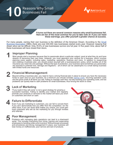 10 Reasons Why Small Businesses Fail
