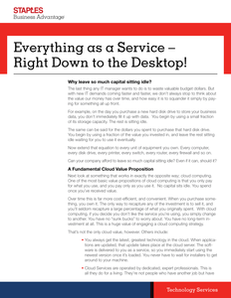 Everything as a Service – Right Down to the Desktop!
