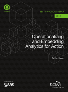 TDWI: Operationalizing and Embedding Analytics for Action