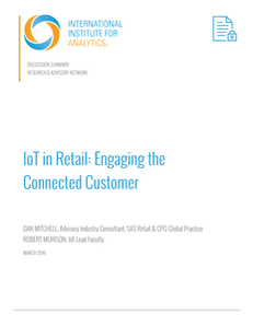 International Institute for Analytics: IoT in Retail: Engaging the Connected Customer