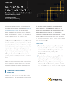 Your Endpoint Essentials Checklist