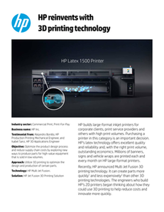 HP reinvents with 3D printing technology
