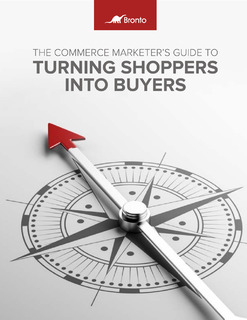 The Commerce Marketer's Guide to Turning Shoppers into Buyers