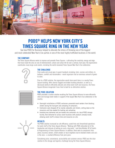 PODS for Business Helps New York City's Times Square Ring in the New Year