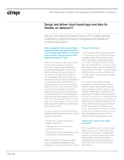 Design and deliver cloud-based apps and data for flexible, on-demand IT