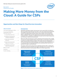 Cloud Service Providers: Drive More Profitable Growth from the Cloud