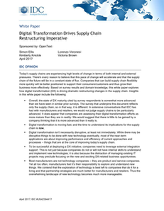 How Digital Transformation Drives Supply Chain Restructuring Imperative