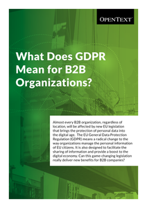 What Does GDPR Mean for B2B Organizations?
