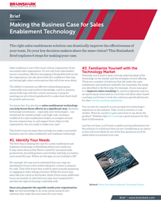 Making the Business Case for Sales Enablement Technology