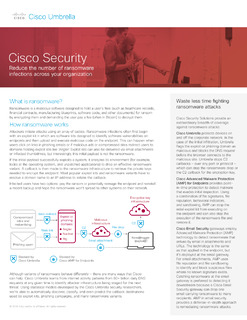 Reduce the number of ransomware infections across your organization