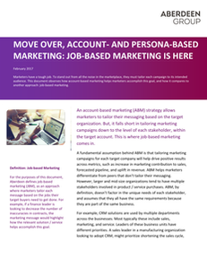 Move Over Account- and Persona Based Marketing: Job-based Marketing is here.