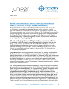 Nemertes Security Issue paper: All Together Now: Securing the Internet of Things