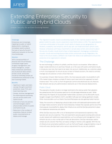 Extending Enterprise Security to Public and Hybrid Clouds (vSRX)