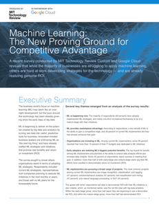 Machine Learning: The New Proving Ground for Competitive Advantage