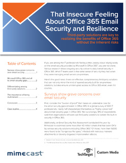 That Insecure Feeling About Office 365 Email Security and Resilience