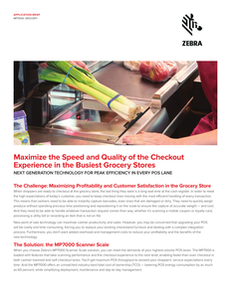 The new MP7000 checkout scanner: peak efficiency and faster-than-ever performance in every POS lane.