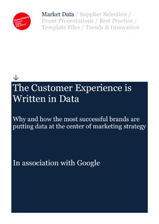 Econsultancy report: The customer experience is written in data