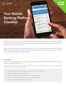 Your Mobile Banking Platform Checklist