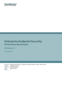 Enterprise Endpoint Security Performance Benchmarks