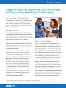 Deepen Insights into Quality and Sales Effectiveness with Face-to-Face Voice Interaction Recording