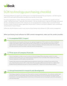 Buyer's Guide: SOX Software Purchasing Checklist