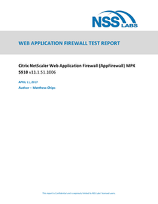 NSS Labs Web Application Firewall Test Report