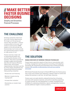 Make Better, Faster Business Decisions: Simplify and Streamline Financial Processes