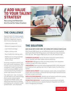 Add Value to Your Talent Strategy: Recruiting and Retention Are Crucial for Value Creation