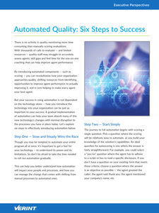 Automated Quality: Six Steps to Success