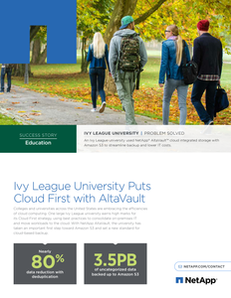 Ivy League University Puts Cloud First with AltaVault