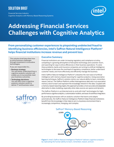 Addressing Financial Services Challenges with Cognitive Analytics Solution Brief For Distribution