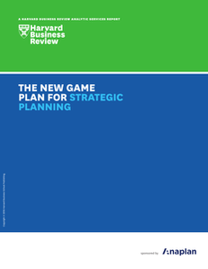 The new game plan for strategic planning